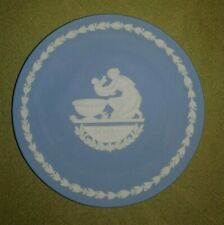 Wedgewood Blue Jasperware Mother's Day Plate, 1973