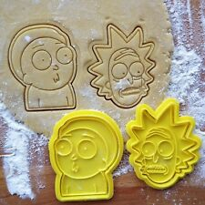 Rick and Morty cookie cutters. Rick and Morty cookies. Set of 2