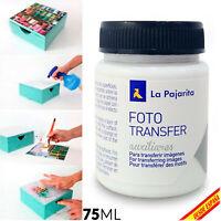 Foto Transfer La Pajarita Fototransfer 75 ML Desde Laser a TODA Superficie