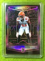 DENZEL WARD PRIZM ROOKIE CARD JERSEY #21 BROWNS # /75 SP RC 2018 Panini Obsidian