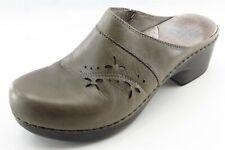 Dansko Size 38 Medium (B, M) Gray Mules Shoes Leather Women