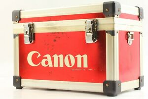 🔸Exc+++++🔸 Canon Aluminum Trunk Camera Hard Case RED Box from Japan