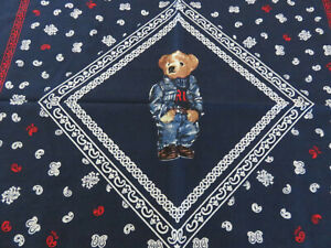 Polo RALPH LAUREN Polo Bear Western Cotton Bandanna