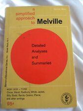 A Simplified Approach to Melville Herman Barron Ed Series Vtg 1963 Darrel Abel