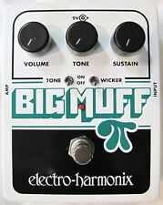 Used Electro-Harmonix EHX Big Muff Pi w/ Tone Wicker Guitar Effects Pedal!