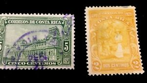 1923 Costa Rica. Stamps Harvesting Coffee. Architecture. Mixed
