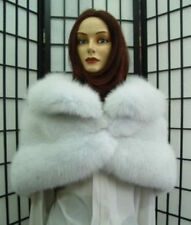 $BRAND NEW WHITE FOX FUR STOLE WEDDING WOMEN SZ ALL