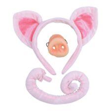 Children's Pig Ears, Tail & Nose Set - Fancy Dress Ears Animal Costume Child