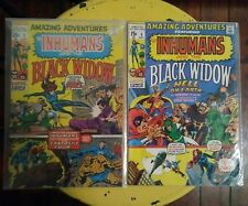 MARVEL Comics Amazing Adventures Inhumans and the Black Widow #2 and #6 1970