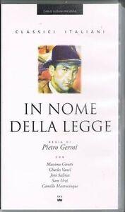 IN NOME DELLA LEGGE - GERMI - GIROTTI - VANEL - URZI' - 1949 - VHS NUOVO