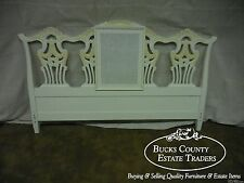 Custom Painted Chippendale Style King Size Headboard
