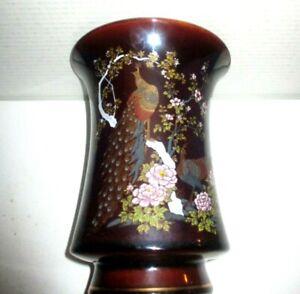 "Vintage Yama ji   Vase Peacock Elephant Made in Japan 8"""