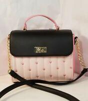 Luv BETSEY JOHNSON Crossbody Satchel light Pink,Black, Top Handle  Handbag