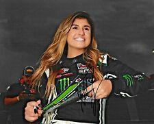 2019 Hailie Deegan Napa 175 NASCAR K&N Series Win Signed 8x10 Photo COA (C)