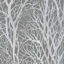 Árbol Ramas Papel Pintado Rollos gris oscuro y plateado-AS Creation 300943 Bosque