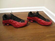 Used Worn Size 13 Nike Shox R4 Shoes Metallic Red & Black