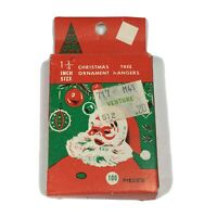 "Vintage Christmas Tree Hangers 1.25"" Metal Ornament Hooks 100 count Santa"