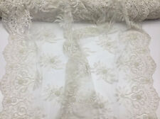 Italiano Designs Mesh Lace Fabric Bridal Wedding Ivory luxury.Sold By The Yard