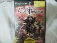 PS2, McFarlane's Evil Prophecy, Video Game, Tested, Has No Insert Booklet.