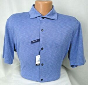 Johnnie O Stokes Hangin' Out Cuttaway Collar S/S Shirt MSRP $115 NWT COOL! - LG