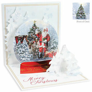 3D Pop Up Greeting Card from Up With Paper - SNOW GLOBE - UP-WP-X-1386