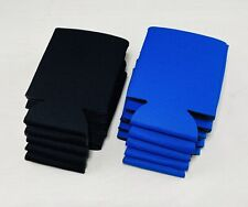 New ListingKooZies Lot 10 Can Cooler Coozie Blank Fun Party Black Blue Cerulean Huggie