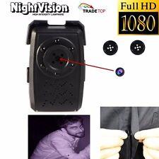 Mini 1080P HD SPY DVR Hidden Buttons Camera Night Vision Audio Videorecorder Cam