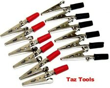 12pc 2 Alligator Clip Set Negative Positive Insulated Post Electrical Clamp Hd