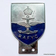 Vintage Car Badge - Royal Air Force Yacht Club RAFYC - RAF Auto Grille Mascot