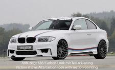 Rieger Seitenschweller CarbonLook mit Schacht und Ausschnitt für BMW E81/E82/E88