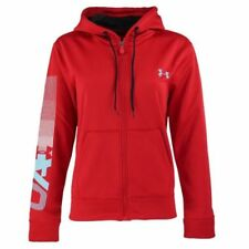 Novo com etiquetas Feminina Under Armour Frio Gear logo Athletic Academia moletom capuz zíper inteiro
