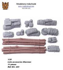 WWII 1/35 Resina TANQUE SHERMAN SET 11 Piezas resin TANQUE value gear estiba
