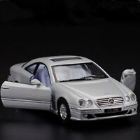 Mercedes-Benz CL500 Model Car 1:36 Toy Open two doors Gift Alloy Diecast Silver