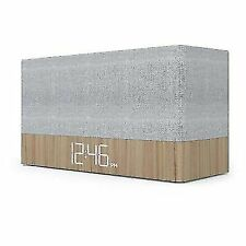 Capello Ci Simple Stack Bluethooth Speaker With Clock - Wood