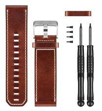 Garmin Tactix Fenix 3 Quatix Brown Leather Wrist Watch Band Strap 010-12168-12