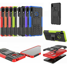 For Asus ZenFone Max Pro M2 ZB631KL, Hybrid Rugged Kickstand Armor Case +glass