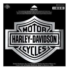 Harley-Davidson Bar & Shield Chrome Large Decal, Large Size Sticker D3024C