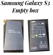 Samsung Galaxy S3 Pebble Blue Original Genuine UK Empty Box.  No Phone