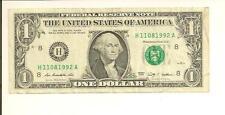NOVEMBER 8, 1992 .. BIRTHDAY NOTE ... 2009 $1  H 1108 1992 A .... 11/08/1992