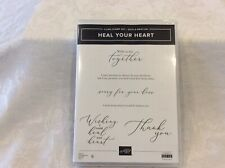 Stampin Up Heal Your Heart Cling Stamp Set - New!