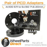 4x100 57.1 to 5x130 71.6 20mm Kei Racing PCD Adapters for VW Golf [Mk2] 83-93
