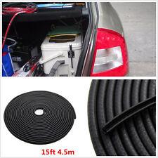 DIY 4.5m Black U-Style Car Automobile Body Door Edge Protector Rubber Seal Strip