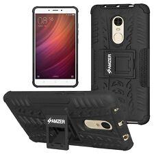 AMZER Dual Layer Hybrid Warrior Case Media Stand For Xiaomi Redmi Note 4 - Black
