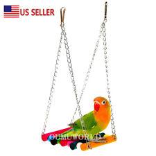 Pet Bird Swing Toy Parrot Parakeet Budgie Cockatiel Cage Hammock Toys Hanging US