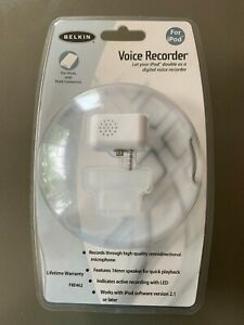Belkin F8E462 Digital Voice Recorder Microphone For Vintage iPod