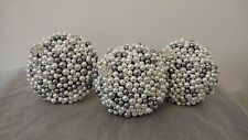 White and Silver Pearl and Diamante Bridesmaid Bouquet...