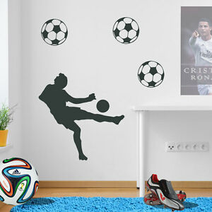 Football Figure Player Footballer Footy Wall Stickers Decals Vinyl Transfer A72