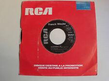 "FRANCK WEYLER: La cathédrale / Amoureux 7"" 45T 1985 PROMO RCA VICTOR PB 40167"