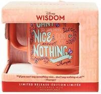 Disney Wisdom Mug Bambi Thumper Limited Release Flower Say Something Nice Bunny