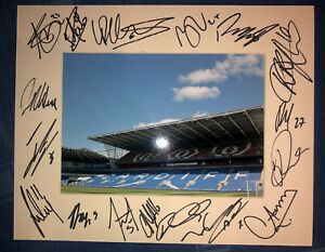 Cardiff City 21/22 HAND SIGNED 10x8 MOUNT DISPLAY Signed By 17 Players E